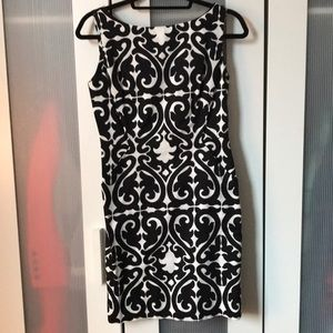 Milly Black and White Patterned Sheath Dress - 2